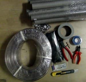 Необходимые материалы и инструмент для монтажа