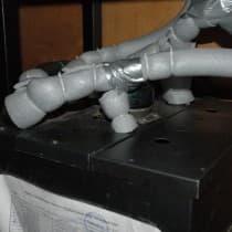 Еще пример изоляции на охладителе