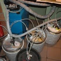 Видна тщательность термоизоляции пивопроводов
