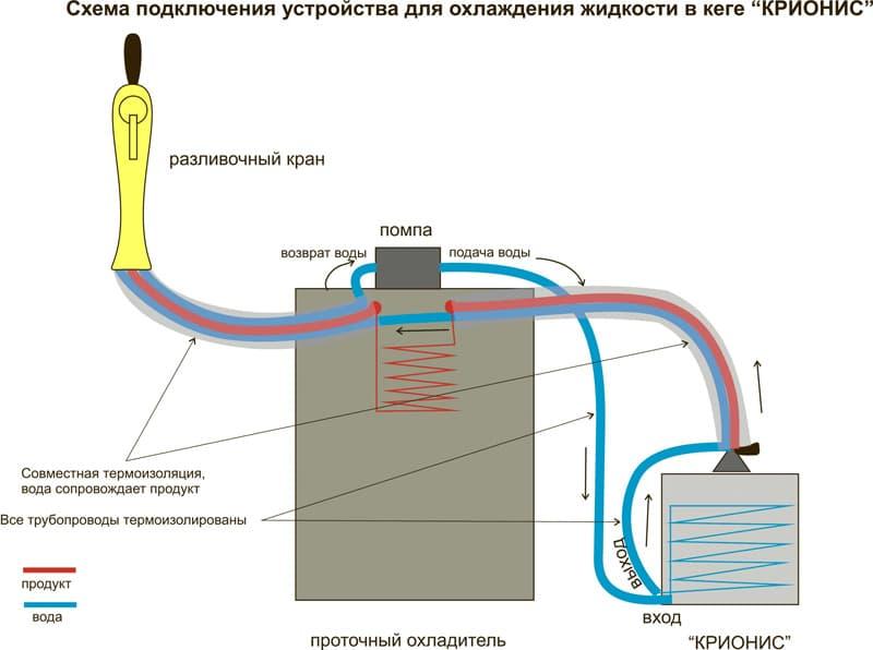 Схема подключения одного Криониса